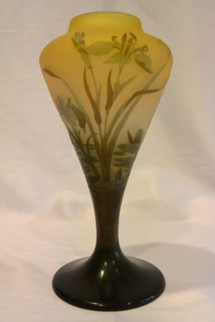 Emile Gallé - Vase with water plants decoration