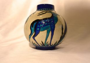 KERAMIS Charles Catteau - Vase with deer and stag