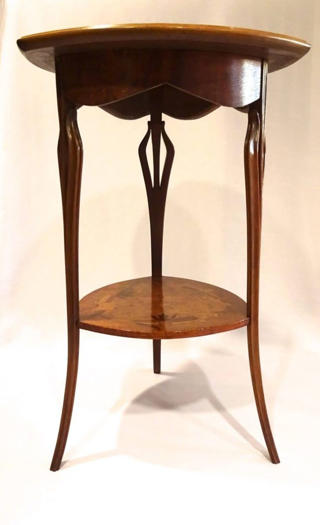 LOUIS MAJORELLE - Art Nouveau side table FRONT