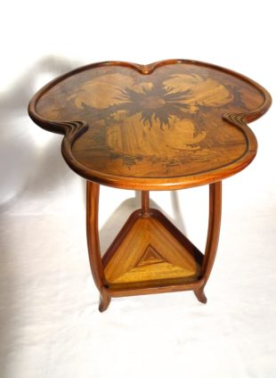 Louis Majorelle - Art Nouveau table with inlayed tropical woods