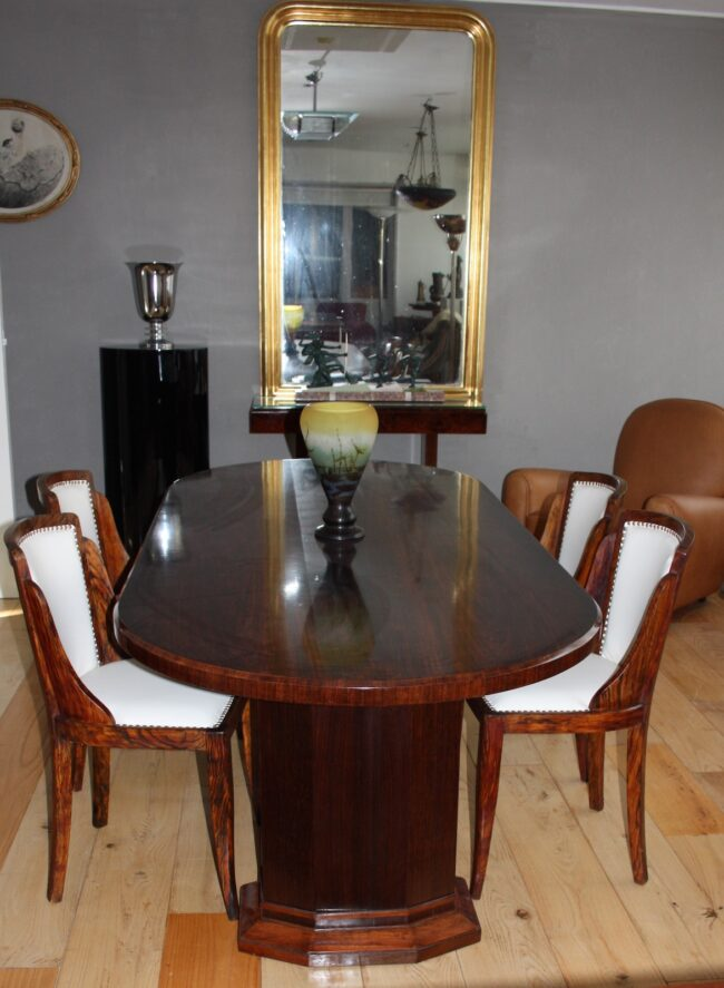 table caldagues no 718 and 4 original chairs from jules leleu 1