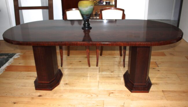 table caldagues no 718 and 4 original chairs from jules leleu 2